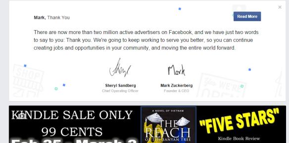 facebook thank you