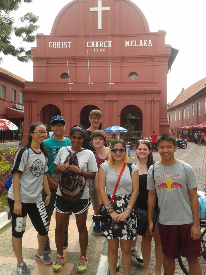 My crew in front of Christ Church.