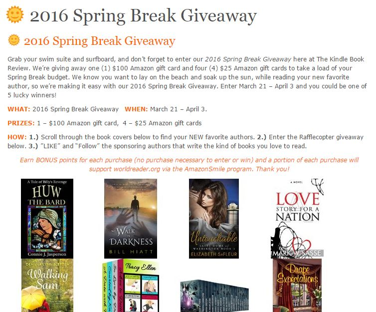 Spring Break Giveaway: Win a $100 Amazon Gift Card! | mwsasse
