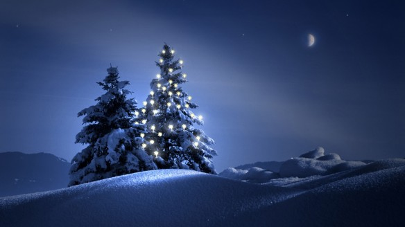 christmas-tree-on-snow-wallpaper-wide